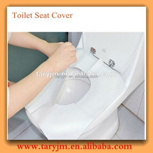 Camping travel pack 10 pieces high quality toilet seat cover paper