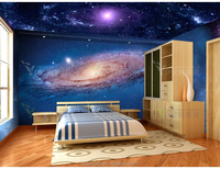 3d Star Night Sky Design Wall and floor Mural for Interior Decoration