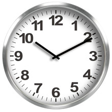 50 cm large round metal wall clock for school and office