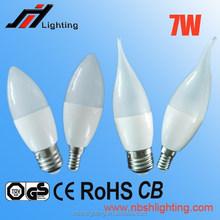 CE ROHS Factory sale C37 7W E27 E14 LED CANDLE LIGHT