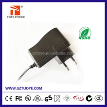 Manufacturer ac dc power adapter 15v 1000ma 15W series with different plugs