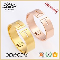 New costume jewelry gold stainless steel bangle bracelets