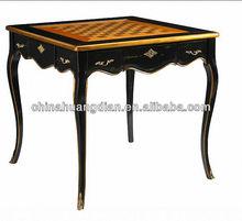 estilo antiguo de madera banquete mesa para el restaurante hdt077