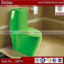 green colored toilet wc sanitary ware, five star hotel/ktv washdown one piece toilet wc