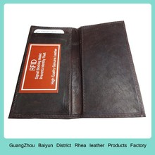 Mens Personalized Black RFID Blocking Credit Card Holder Leather Bifold Travel Checkbook Wallet Covers