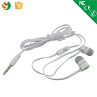 mobile earphone with flat cable for samsung galaxy s5 ss6 iphone