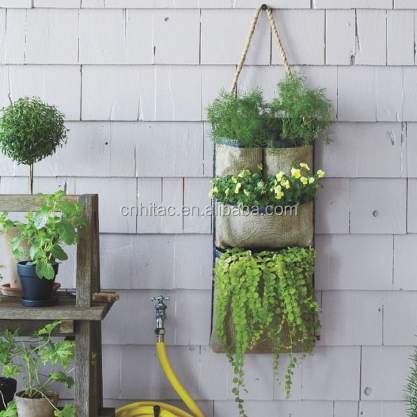 Upside Down Vertical Garden Hanging Wall Pocket Planter