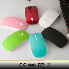 Colorful promotion gift Nano USB 2.0 receiver 1000DPI 2.4G Wireless Ultra-slim Mouse