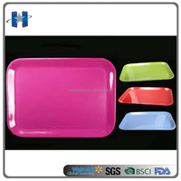 Cheap colorful large plastic custom melamine tray