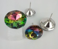 Factory Direct Selling Glass Crystal Buttons For Sofa Furniture Upholstery Accessories