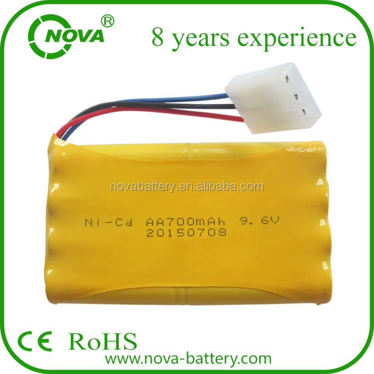 9.6v 700mah Ni-cd Aa Battery Pack Rechargeable For ...