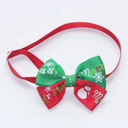 Christmas Pet Bow Tie Red&Green Butterfly Dog and Cat Collar Fashion Design Drop Shipping V1149