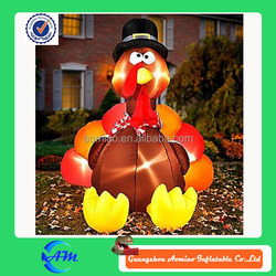 giant inflatable turkey inflatable turkey with led lights inflatable decoration for sale
