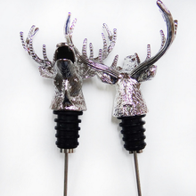 Christmas gift event and party supplie table decoration stainless steel alloy silver deer wine stopper
