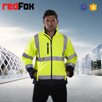 Breathable waterproof high visibility softshell jacket