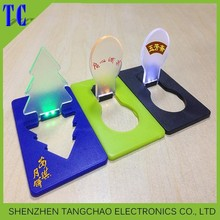top quality business card led light designed by your idea