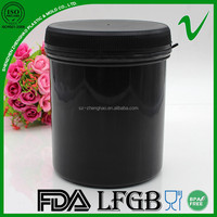 1L HDPE customized empty plastic cylindrical container with wide mouth