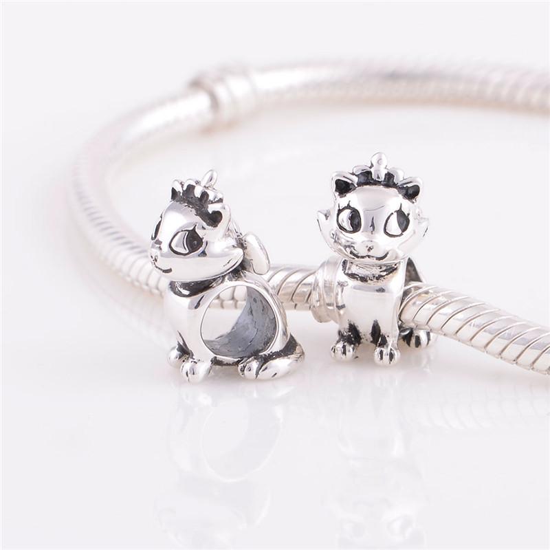 Модный Cute cat charm European Bead Compatible with love bracelets GW fine jewelry  YZ142