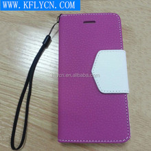 2015 dual window mobile phone cases for iphone 6 accessories, leather phone casefor iphone 6 plus