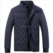 New stylish Men's quilted padding jacket classic plain color