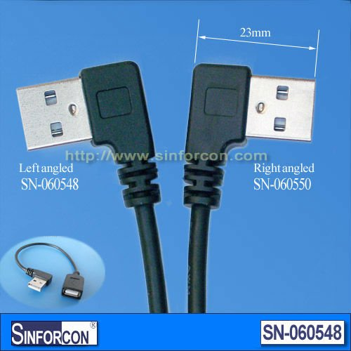 L Shape Usb A Male To Usb A Female Extension Cable Buy