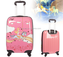 XC-44 cute kids suitcase/cool boy kids trolley bag/cute kids rolling suitcase with spinner wheels