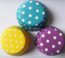 high quality Colored Polka Dot cupcake Liner Baking Cup muffin case Cake Paper Cup,cake case cake wrapper candy cup tray