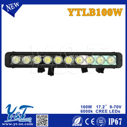 """17.2"""" 100w Led Light bar 9500lm~10000lm Flood Beam LED Chips IP67 24V 12V 60 Degree Truck SUV Van Camper Wagon Car Pickup"""
