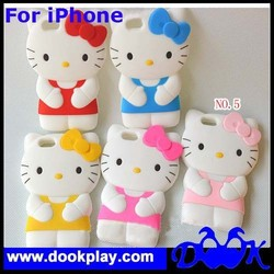 For iPhone6 iPhone 6 3D Hello Kitty KT Silicone Cover Case