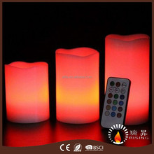 Vanilla scented ivory LED candles with colorful remote control