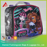 High Quality Factory Price 600D kid insulated lunch cooler bag zero degrees inner cool