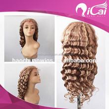 long wavy virgin peruvian human hair brown blonde highlights full lace wigs