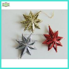12cm plastic star new design christmas decorations