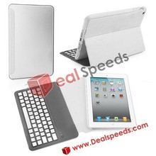 Aluminum Bluetooth Wireless Keyboard with Flip Leather Case Cover For ipad mini