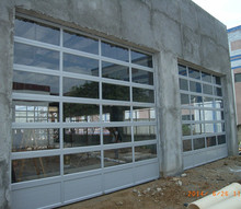 Premium Value full view aluminum commercial garage doors with clear glass