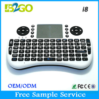 Wholesale rii i8 2.4g mini wireless backlit keyboard with touchpad for android