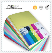100% original pulp A4 size 10colors mixed colour paper