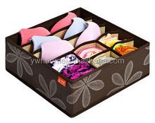 Popular Eco-Friendly Foldable Storage Box For Bra,Towel,Underwear,Socks,Scarf,Organizer