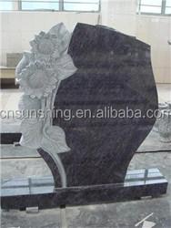 Carved Sunflower Granite Monument for Cemetery