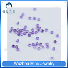 Alibaba Mine top quality 1-3mm natural amethyst loose gemstones