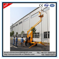 Mobile self-propelled boom lift/self walk hydraulic cherry picker for sale
