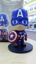 Comercio al por mayor de una pieza de 12 cm El 1avengers versión Q del Capitán América plástico PVC Anime japonés figura de acci