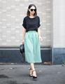 Venta al por mayor 2015 nueva llegada de moda mujeres y damas de algodón falda larga modelos