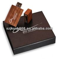 Rectangel customize logo wooden usb flash drives 8gb 16gb