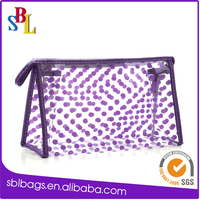 Best selling clear PVC travel toiletry bags, OEM/ODM girls beauty cosmetic bags