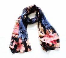 Elegant Floral Print Fashion Scarf Wrap