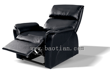 Baotian Furniture modern recliner handpush with imported cow leather