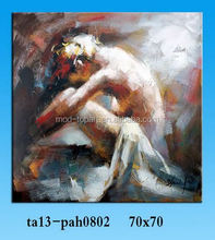 Promotional products china frame photo art naked girl canvas painting