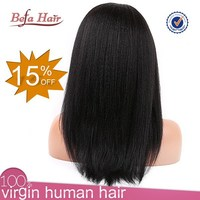 2015 best selling human hair full lace wig short hair lace wig silk top