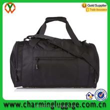 waterproof sport nylon foldable travel duffel bag/mens fancy cylinder duffel bag